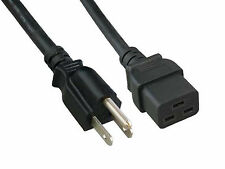 Power Cord 3ft 14AWG 300V Rectangle C19 to 15P for APPLE Mac G5 Dual & Quad Core