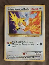 RARE Articuno, Moltres, and Zapdos GIANT Promo English Pokemon Card