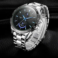 Fashion Men Stainless Steel Military Waterproof Sport Analog Quartz Wrist Watch