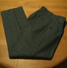 Military Thick Wool Pants Mens  30x30 USA Suspender Buttons Green Gray
