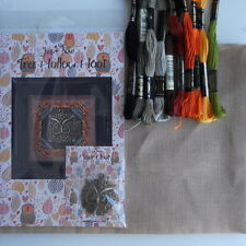 Just Nan Cross Stitch Tree Hollow Hoot kit with charm