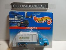 Hot Wheels Haulers Blue/White Waste Mgmt Garbage Truck