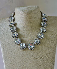 Chloe and isbel Crystal Silver Necklace