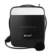 55W Voice Booster Amplifier Speaker+FM MP3 Microphone For Coach Teach Guide Y3U3