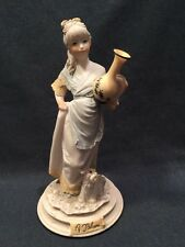 Vintage Belcari Figurine Lady Holding Water Jug Signed. Dear 1987 (ref P745)