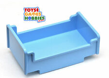 *NEW* LEGO DUPLO Light Blue PInk Cot Figure Doll Bed Piece House Family Bedroom