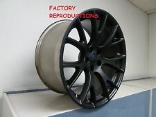"""4) 22"""" Stagger Hellcat Style Wheels Flt Black Challenger 300C Charger Magnum RWD"""