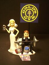 Got the WEIGHTS GYM Workouts Bride and Groom Wedding Cake Topper Funny