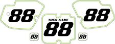 1988 Kawasaki KX500 Custom Pre-Printed White Backgrounds with Green Pinstripe