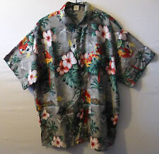 "Rima Setosa Retrò PAPPAGALLO COCKATOO Camicia Hawaiana UK XXL USA XL 50 "" 127 cm H5"
