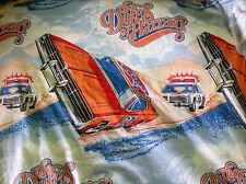 Vintage 1982 Dukes Of Hazzard General Lee Twin Flat Sheet Fabric Bedding *RARE*