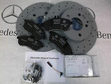 Mercedes-Benz Genuine New front discs & pads brake package W204 C Class Sal/est