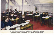 SEAMEN'S CHURCH INSTITUTE NAVIGATION & MARINE ENGINEERING CLASS, SOUTH ST. NYC