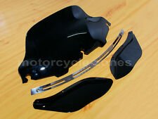 "Slotted Stock Batwing Trim + 8"" Black Windshield+Side Air Wing Harley Davidson"