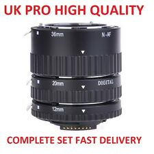 UK Pro Metal AF Auto Focus Macro Extension Tube Set For Nikon Digital SLR Camera