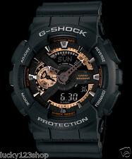 GA-110RG-1A Black Rose Gold Casio Watches G-Shock 200M Analog Digital X-Large