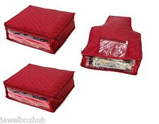 Maroon satin Combo of 2 Saree &1 Blouse Cover-Capacity 5-6 Sarees  9-10 Blouses