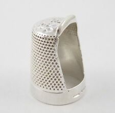 Unusual Hallmarked Vintage Sterling  Silver Quilting Thimble LAYBY AVA