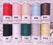 10 NEW 274 yd Spools Different colors GUTERMANN 100% polyester sew-all thread