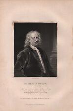 1833 georgiano retrato de impresión ~ Sir Isaac Newton ~