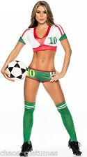 MEXICO Sexy Cheerleader World Cup Football Sports Girl Costume 6 8 10