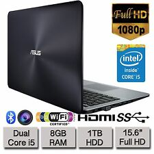 "NUOVO Asus x555la 15.6"" Full HD 1080p Intel Core i5 Laptop 8gb RAM 1tb HDD Win 10"