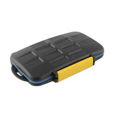 JJC MC-3 Waterproof Memory Card Carrying Case Holder Box For 4 CF 4 SD Portable