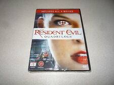 THE RESIDENT EVIL QUADRILOGY: DVD  INCLUDES ALL 4 MOVIES BRAND NEW AND SEALED