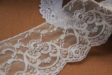 "10Yards*4""off white flower lace trim,vintage lace for wedding invitation-LSW0010"