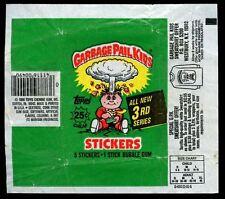 Garbage Pail Kids Series 3 Stickers Wrapper #W51