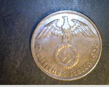 1938-B Germany, Third Reich, 2  Reichspfennig, High Grade Bronze Coin (Ger-139X)