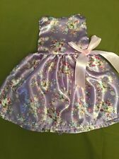 "Fits 15"" 16"" Baby Alive Doll Clothes Party Dress Floral Silk Purple Pink Bow NEW"