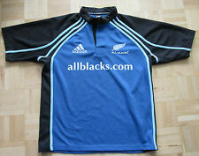 ALL BLACKS RUGBY New Zealand shirt by ADIDAS 2003 /adult/blue/ M