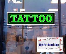 """LED Light Box TATTOO - 48""""x12"""" Window Sign"""