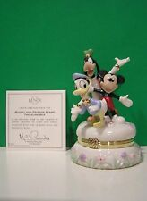 LENOX MICKEY and FRIENDS STAMP MICKEY MOUSE TREASURE BOX NEW in BOX w/COA GOOFY