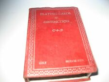 ANTIQUE DECO 1932 'WHIST CLUB OF NEW YORK' BRIDGE PLAYING CARDS OF DISTINCTION