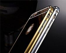 iPhone 6S :Silver Luxury fashion mirror ultra slim metal case W/ aluminum frame