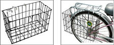 Sturdy Bicycle Rear Baskets Collapsible Metal Basket Fits Mount Onto Bike HIAU