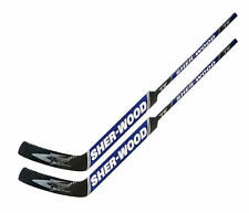 "2 Sherwood T70 composite goal stick left 25"" PP41 blue new senior hockey goalie"