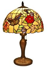 Amora Lighting Tiffany Style Table Lamp Buterflies 19 Inch AM061TL12