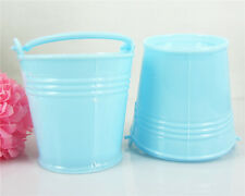 12 New baby shower favors christening party tiny feet favour pails buckets