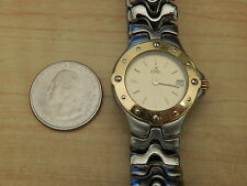 NOT WORKING 18K STEEL EBEL LADIES SPORT WAVE BAND BRACELET WATCH FOR PARTS / FIX