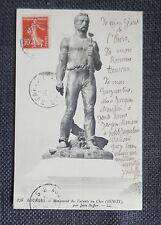 JEAN BAFFIER sculpteur écrivain du Berry carte postale autographe à M Mariani
