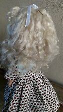 "Doll Wig,  Sabine 8-9"" ashblonde  Mohair by Global Dolls. unused Mohair Wig"