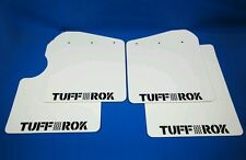 Genuine tuffrok LAND ROVER DEFENDER 90 Mud Flap Veicolo Serie 2005 td5 bianco lucido