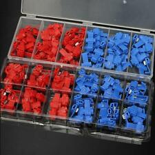 70Pcs Quick Splice Crimp Wire Connector Electrical Cable Lock Terminal With Box