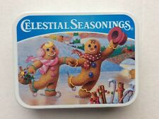Celestial seasonings tea tin 2002 Collection Gingerbread Skaters Holiday _Small