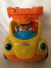 Fisher Price Little People Construction Dump Truck W/ Sounds Music & Boulder