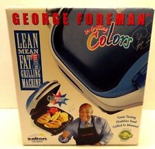 GEORGE FOREMAN IN GRILLING COLORS BLUE NEW