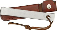 Schrade HS1 Old Timer Honesteel Sharpening Stone with Leather Lanyard and Sheath